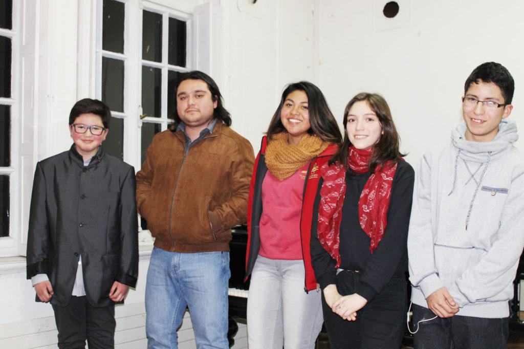 Cristóbal Orellana, Diego Ponce, Javiera Carrasco, Amanda Ramírez